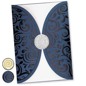 Blissful Rounded Specialty Pocket Invitations