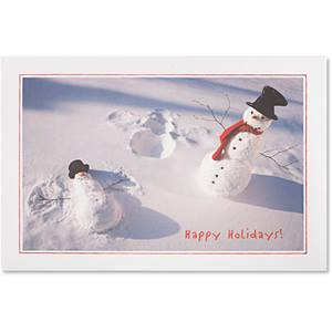 Snowman Angels Boxed Holiday Greeting Cards