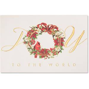 Cardinal Wreath Boxed Holiday Greeting Cards