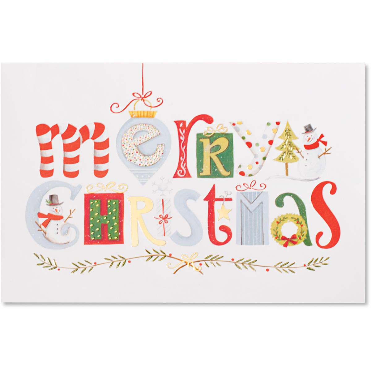 Merry Christmas Elements Boxed Holiday Greeting Cards Paperdirects