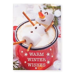 Marshmallow Snowman Boxed Holiday Greeting Cards