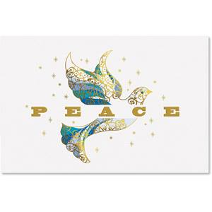 Elegant Dove Boxed Holiday Greeting Cards