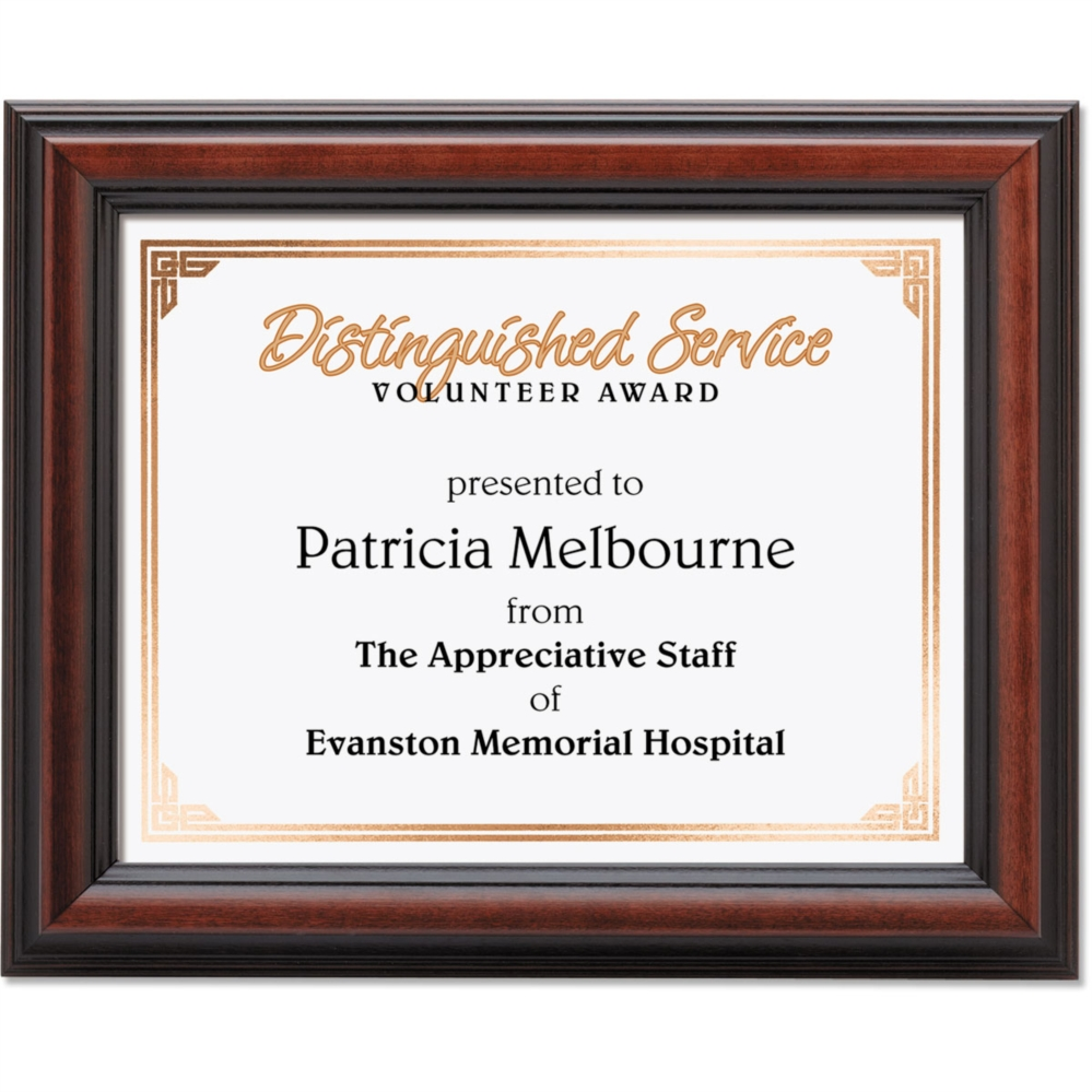 Cherry wood certificate frames paperdirects cherry wood certificate frames jeuxipadfo Choice Image