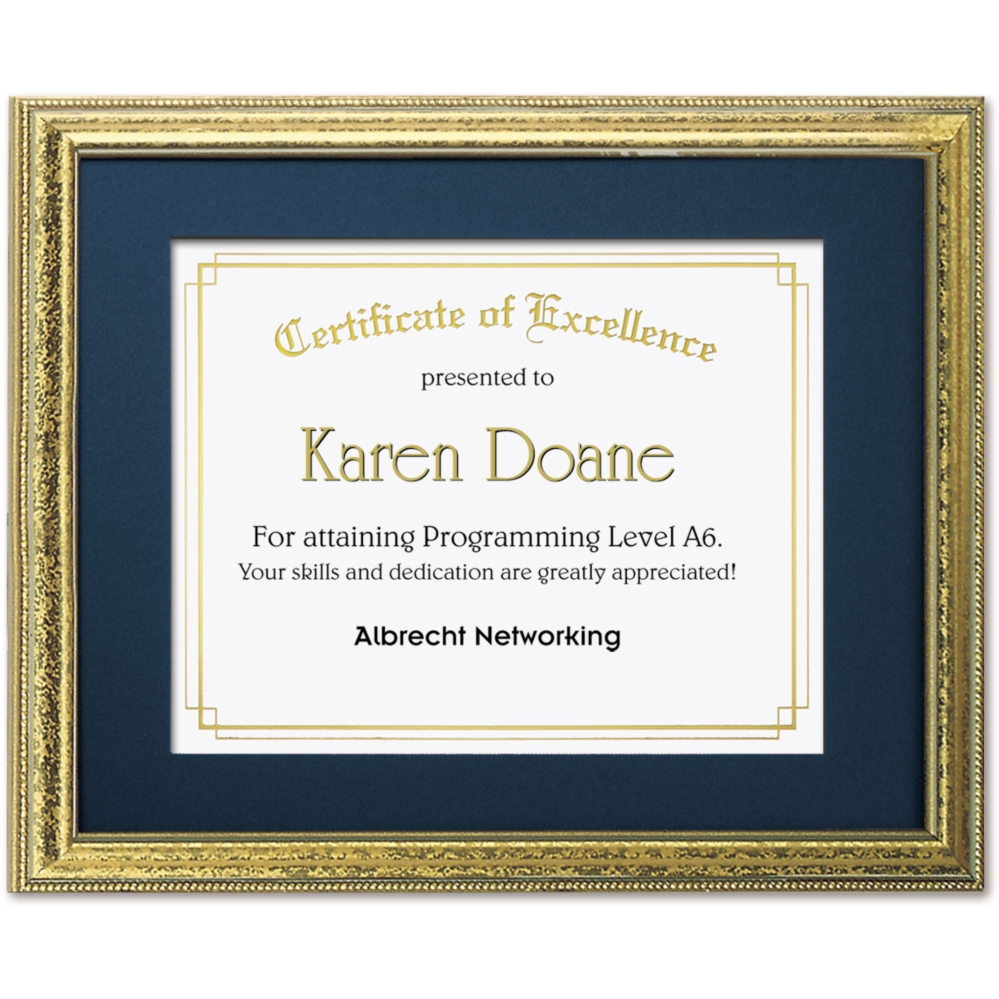 Speckled Gold Large Certificate Frames | PaperDirect\'s