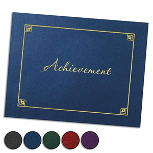 Achievement Foil-Stamped Certificate Jackets