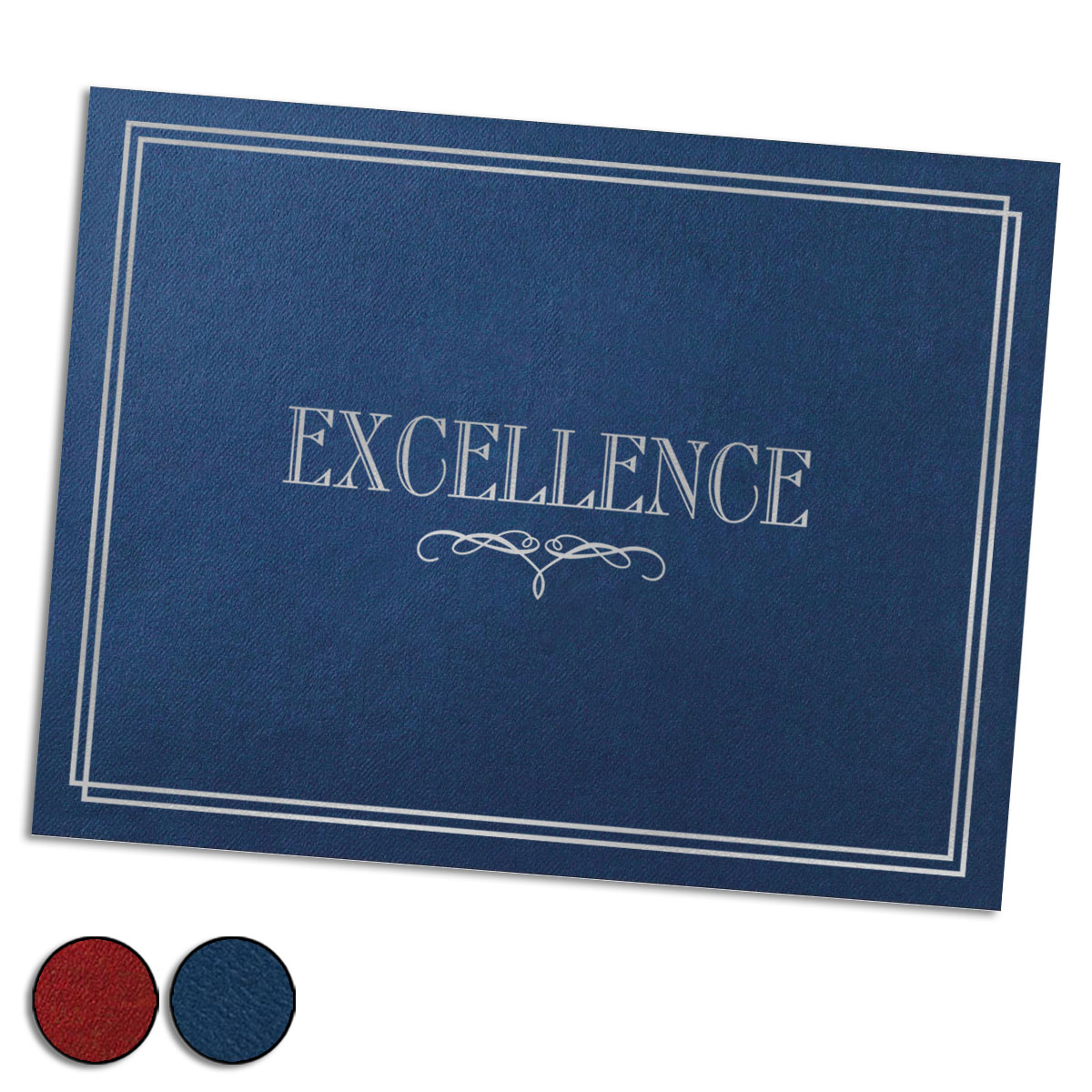 Excellence Silver Foil Stamped Certificate Jackets