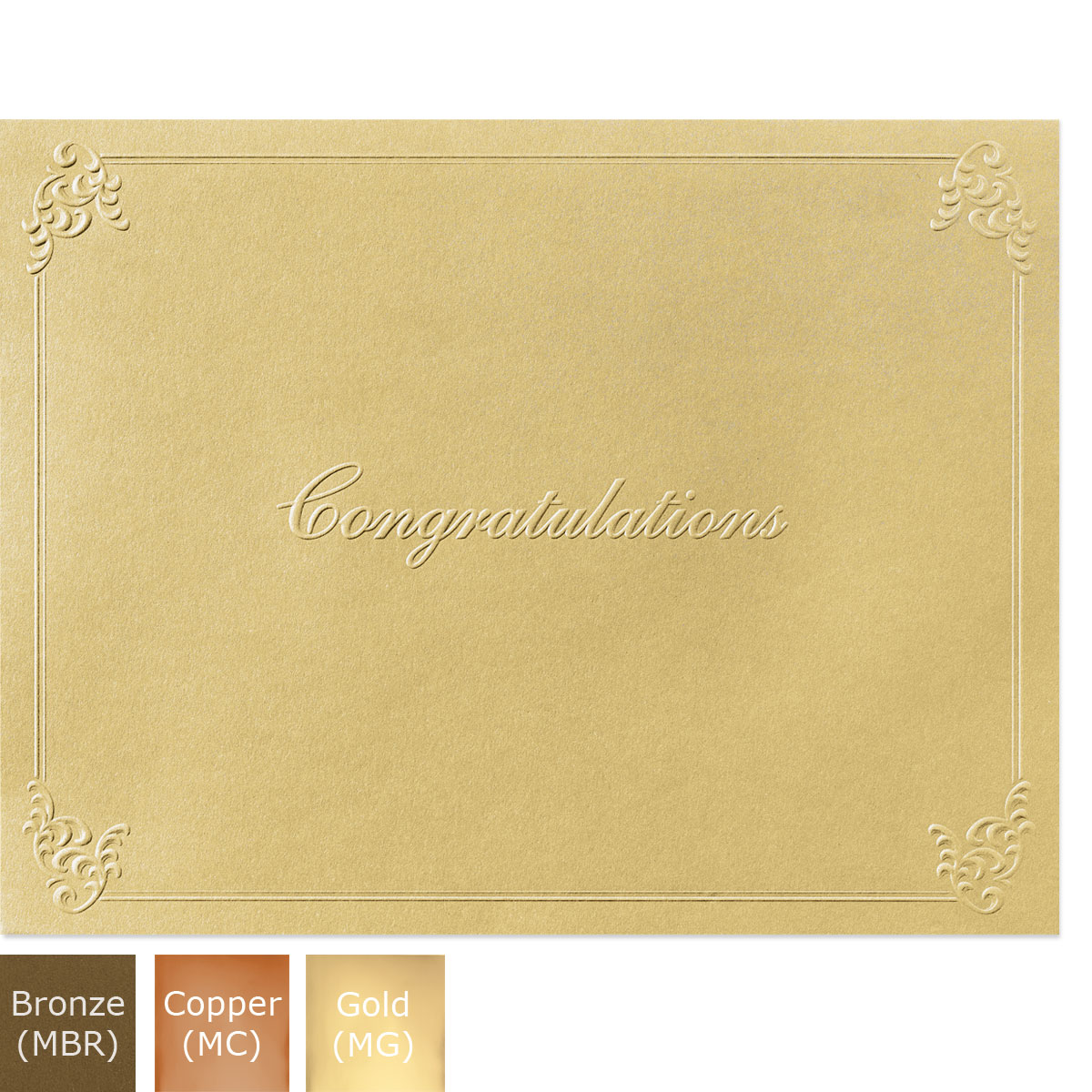 Congratulations Glisten Certificate Jackets