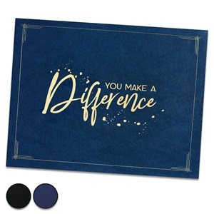 You Make a Difference Certificate Jacket