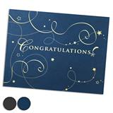 Congrats Swirls Foil-Stamped Certificate Jackets