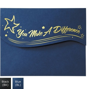 You Make A Difference Premier Fold Certificate Jackets