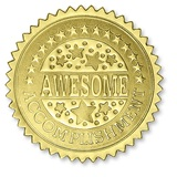 Awesome Accomplishment Gold Foil Certificate Seals