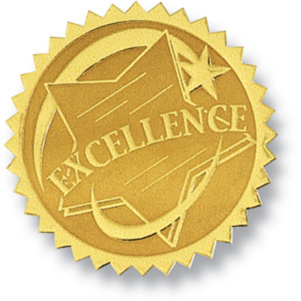 Excellence ii embossed gold foil certificate seals paperdirects excellence ii embossed gold foil certificate seals yadclub Choice Image
