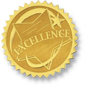 Excellence ii embossed gold foil certificate seals paperdirects excellence ii embossed gold foil certificate seals yadclub Image collections