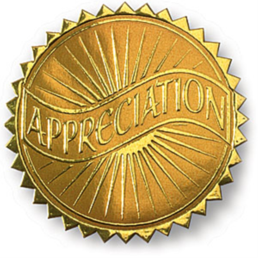 Appreciation embossed gold foil certificate seals paperdirects appreciation embossed gold foil certificate seals yadclub Choice Image