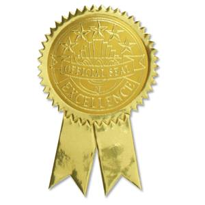 Excellence with tails embossed gold foil certificate seals excellence with tails embossed gold foil certificate seals yadclub Choice Image
