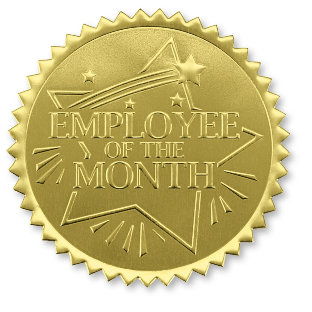 employee of the month certificate seal paperdirect s