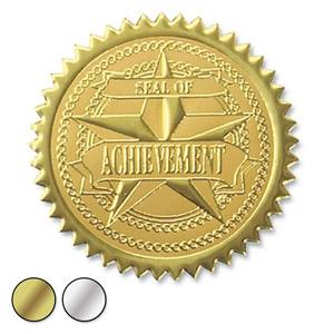 Certificate seals paperdirects achievement embossed foil certificate seals yelopaper Images