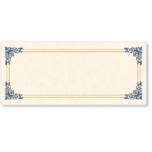 gift certificate papers