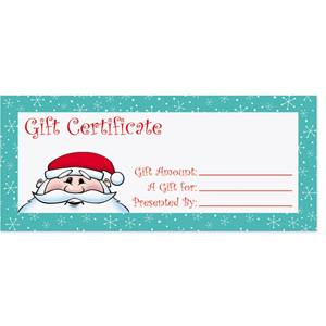 blank gift certificate