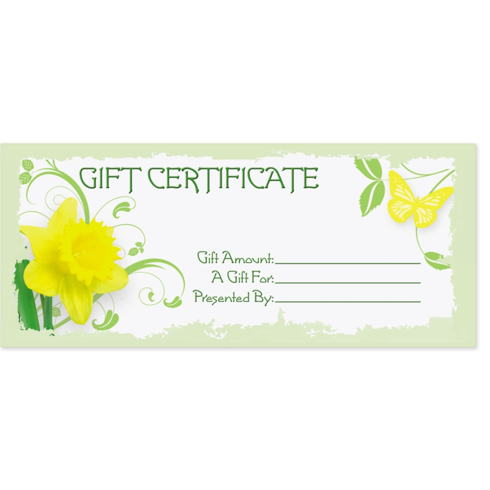 daffodil delight fill in the blank gift certificates paperdirect s