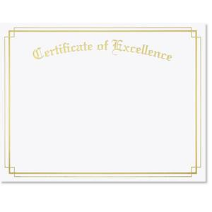 Excellence Border Specialty Certificates
