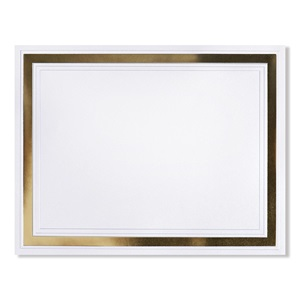 Pristine Gold on White Shimmer Specialty Certificate