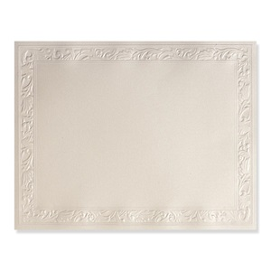 Ornate Cream Shimmer Embossed Specialty Certificate