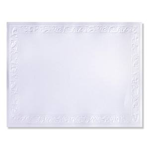Ornate White Shimmer Embossed Specialty Certificate