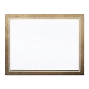 Gold Linen Border Specialty Certificate