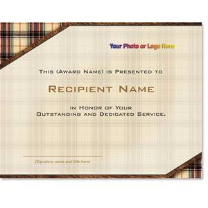 Plaid Modern Certificates