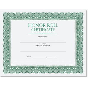 Honor Roll Traditional Certificates