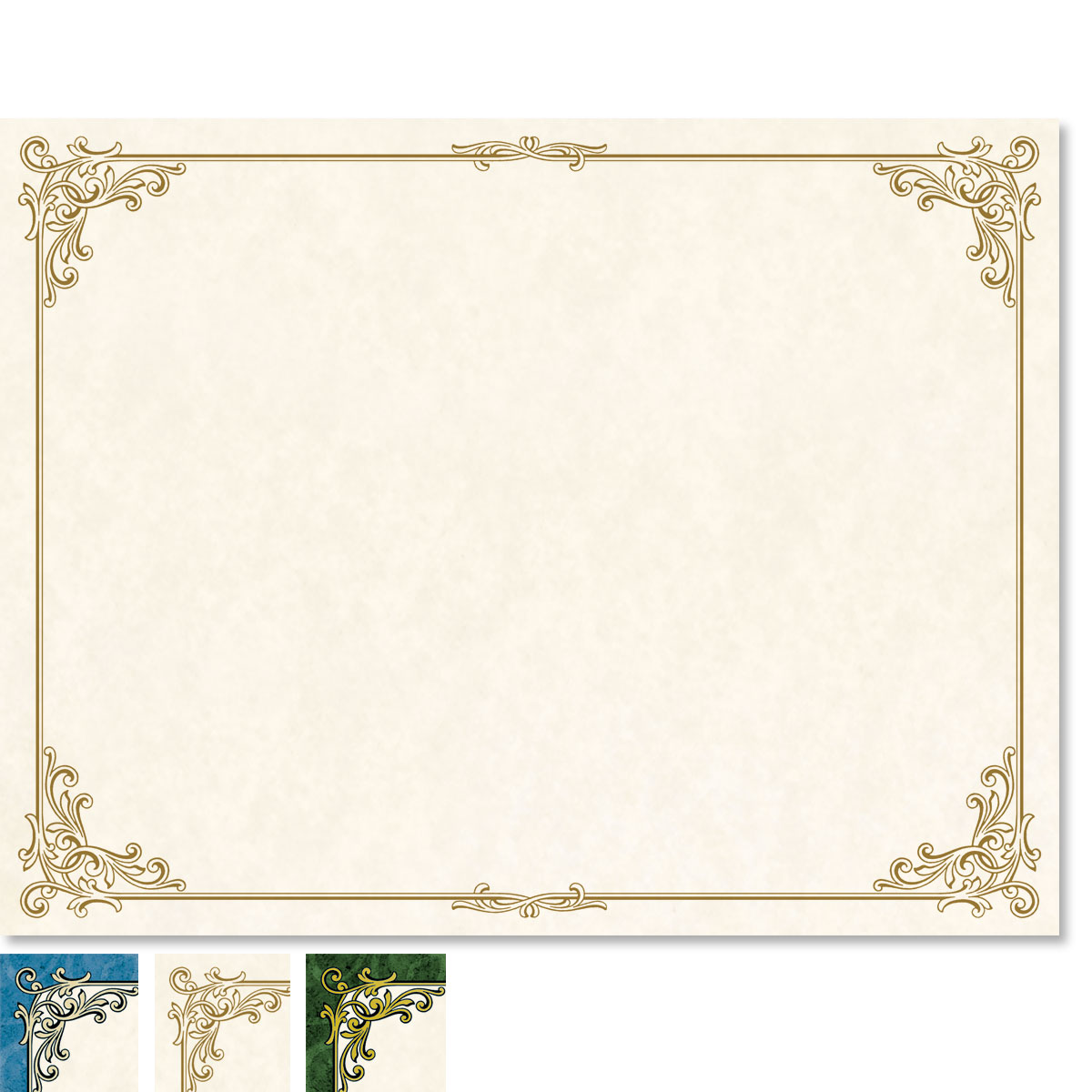 28lb gold border certicates 100 certificates great papers