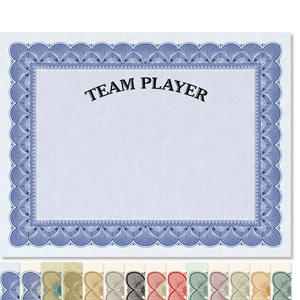 Team Player Traditional Certificates