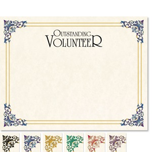 Outstanding Volunteer Renaissance Certificates