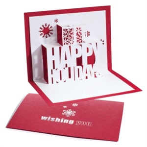 Happy holidays pop up gift card holder paperdirects happy holidays pop up gift card holder m4hsunfo