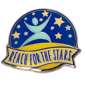 Reach for the Stars Recognition Pin