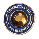 Committed to Excellence Pin