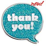 Thank You Award Pin - Glitter
