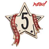Service Award Pin - 5 Year Star Glitter