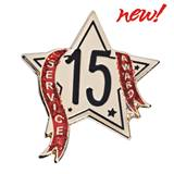Service Award Pin - 15 Year Star Glitter