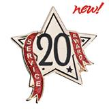 Service Award Pin - 20 Year Star Glitter