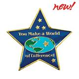 Volunteer Award Pin - You Make a World of Difference