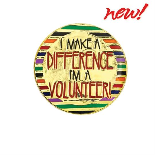 Volunteer Award Pin - I Make A Difference | PaperDirect's