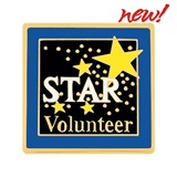 Volunteer Award Pin - Star Volunteer