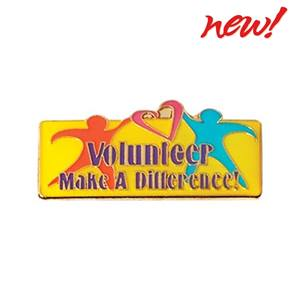 Volunteers Make a Difference Award Pin