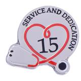 Stethoscope Service & Dedication 15 Year Pin
