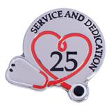 Stethoscope Service & Dedication 25 Year Pin