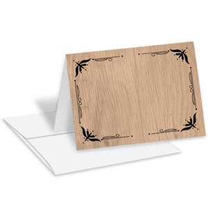 Woodgrain Notecard Set