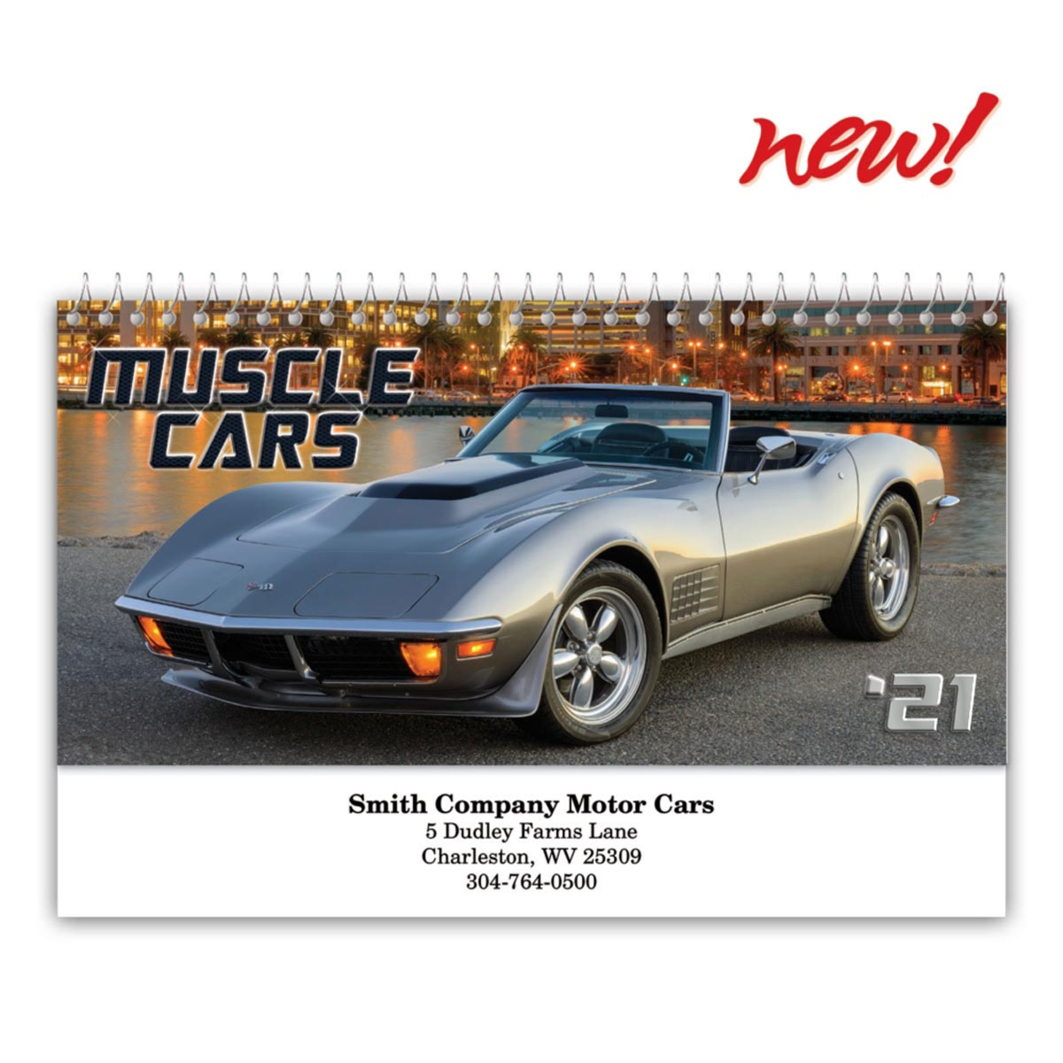 Muscle Cars Desk Calendar