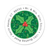 Holly Round Address Labels